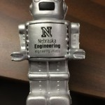Students designed and build a robot out of Legos