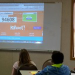 Students played Kahoot when their team was eliminated.