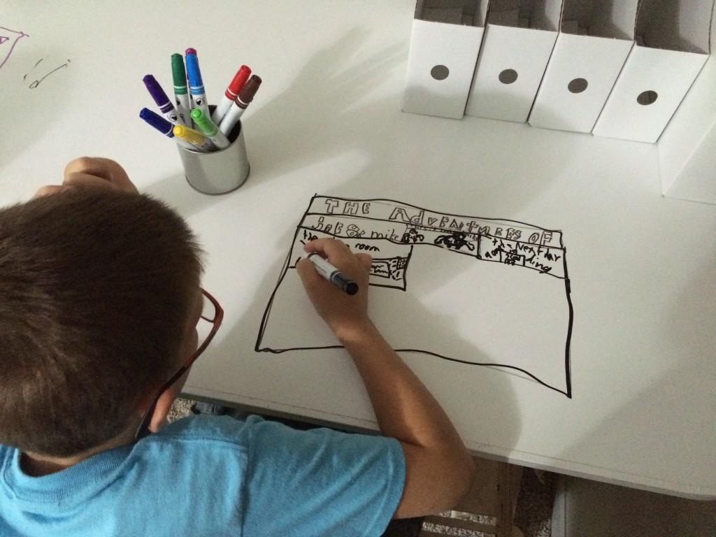 Trea loves to draw comics.