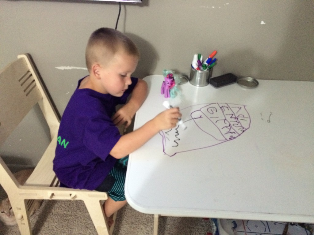 Toby loves the dry erase surface.
