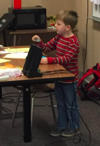 5-year-old Toby showing Westside staff @Kodable during Professional Learning Day #WestsidePL